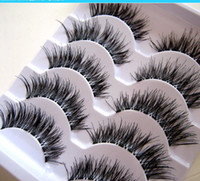 New Transparent False Eyelashes Messy Cross Thick Natural Fa...