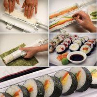 Суши ролл Maker Kit Базука Sushezi Ролик Райс Ролик Mold Плесень Шеф кухни DIY Set 60pcs OOA977