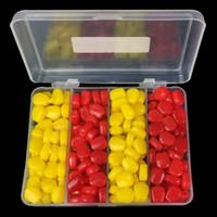 200pcs / 1box Приманка для рыбалки Приманка для приманки Мягкие насадки для моделирования кукурузы Силиконовые приманки Искусственные сумки для рыбалки Pesca