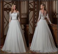 2017 Daria Karlozi New Weddding Dresses Elegant Off the Shou...