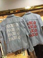 Kanye West jacket I Feel Like PABLO Demin Jacket Letter Prin...