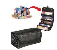 10pcs lot Roll- N- Go Cosmetic Bag folding hanging travel case...