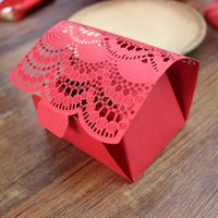 Red Wedding Favors and Gifts Box Baby Shower Paper Candy Box...