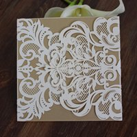 Wed invitation white laser cut rustic invitations for party ...