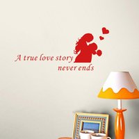 Love Quote Wall Decals a True Love Story Never Ends Lover Vi...