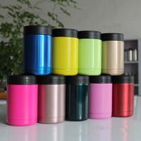 Новые красочные 12OZ чашки из нержавеющей стали 10 цветов 1: 1 стакан автомобиля чашки путешествия спортивных кружек