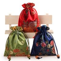 Nova Moda multicolors 11 * 14 centímetros estilo chinês saco apto para colar pulseira brinco presente pacote jóias sacos B1110