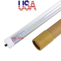 USA Acción 45W 8ft led tubo luz T8 2400mm AC 85-265V FA8 solo pin LED lámparas fluorescentes 8 pies