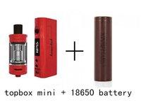Kanger Topbox Mini Starter Kit 75W TC ecigarette 4ml tanque vaporizador cigarrillos electrónicos con caja de kbox mod 510 hilo atomizador