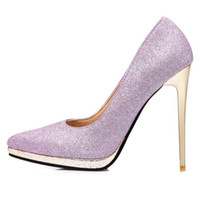 plus size All match queen shoes with sky high heel stiletto ...