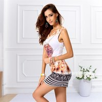 Meecharm hot selling item feather printed summer mini style ...