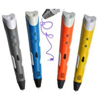 Новый 3D-принтер Pen рисования 3D Pen С Волокно 3D печати ручки EMS / DHL свободный корабль