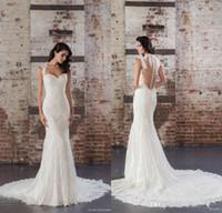 2017 Designer Mermaid Wedding Dresses Sweetheart Capped Slee...