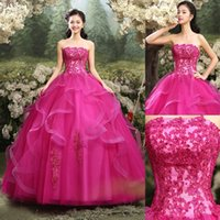 Custom Made Plus Size Fuchsia Quinceanera Dresses Ball Gowns...