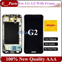 Original AAA grade pour LG Optimus G2 D800 D801 D802 D805 Affichage LCD + numériseur à écran tactile avec bon cadre Livraison gratuite rapide