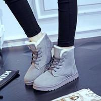 Quente 5 cores Chirstmas inverno neve botas mulheres mais crosta grossa Martin botas laço rua clássico quente de algodão botas mulheres sapatos baixos