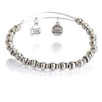 Alex et Bracelets Ani Bracelet en argent doré extensible Alex Ani charme Bracelet Bracelet Bracelet en métal pour perles JS017AL022