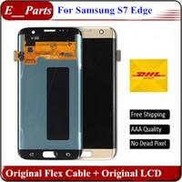 Pour Samsung Galaxy S7 Edge LCD 100% Original Grade AAA ++ G935 G935F G935A G935FD Lcd Numériseur Displaiy écran Assemblage Blanc / Noir / Or