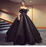 2017 бальное платье черный Вечерние платья с плеча Блестящая бисером рябить Опухший Юбка мантий выпускного вечера