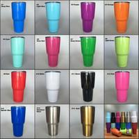 Tazas de viaje 20 vasos de vaso de 30 onzas de colores Vasos de vaso de doble pared de acero inoxidable aislados 20 oz tazas de cerveza con tapa 900 ml al aire libre tazas