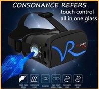 VR CASE contrôle tactile tout en un verre vr box de luxe Lunettes 3D Vue panoramique à 360 degrés Lunettes VR Réglage de l'écart d'objet anti-rayonnement