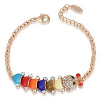 Rose Or Caterpillar Crystal Cristal Cristal Bracelet Chaîne Bracelets Chaîne Pour Femmes Styles Bracelet en gros 2060011725