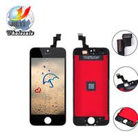 Meilleure qualité AAA pour l'iphone 5 5S 5C lcd + touch + cadre écran numériseur couleur noir et blanc par livraison gratuite