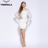 TINDERALA 2017 women Lace dress sexy elegant full sleeve sla...