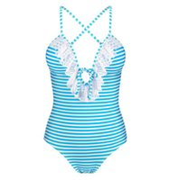 Winmax Summer Style Tummy Control Bathing Suit Navy Blue Pin...
