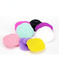 Nouveau Brosse de nettoyage de silicone nettoyeur professionnel Brosse de maquillage nettoyeur de lavage Scrubber Board Nettoyage cosmétique Pad Mat Livraison gratuite