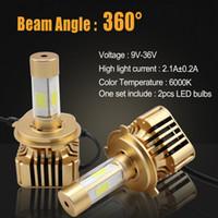 4000LM 40W Bright lighting led automobile headlamp h4 h7 h8 ...