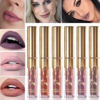 2017 NOUVEAU 11 COULEURS Gold Kylie Jenner lipgloss Cosmétique Rouge à lèvres Mat Lip gloss Lip avec emballage au détail en or