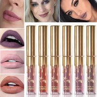 2017 NEW 11 COLORES Oro Kylie Jenner lipgloss Cosméticos Matte labial brillo labial labio con embalaje al por menor de oro
