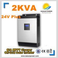 Активный солнечный инвертор 2Kva 1600W Off инвертор сетки 24V до 220V 60A MPPT Чисто инвертор синусоидальной волны 30A AC Charger
