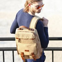 2017 new design canvas bag laptop leisure backpack school sh...