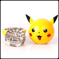 Pikachu Broyeur d'herbes Poke Ball Grinders 3 Pièces 55mm PokeBall Broyeurs Zinc Alliage Plastique Herb Metal Grinders