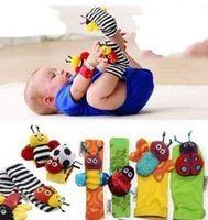 Baby Rattles Bracelet Sock Ankle Sock Rattles Cartoon Bee La...
