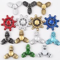 Star Wars Rudder hexagonal Skull head fiord Spinner Toy Hand Spinner roulements spinners Décompression Anxiété Gyro jouets
