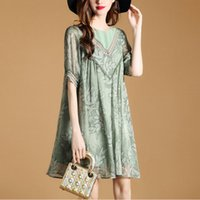 Summer Dressed Five New Lady Loose Sleeves Hollow Out Printi...