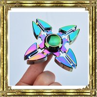 Hot Colorful Rainbow Hand Fidget Spinners Aluminium Alloy Mini Griffe de crabe Mains Spinner Rotate Decompression Finger Toy Spinning Top EDC Toys