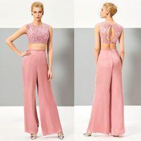Chic Design Scoop Neckline Lace Chiffon Cap Sleeve Ankle Len...