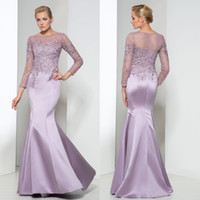 Custom Made Lilac Illusion Bodice Mermaid Mother Of The Brid...