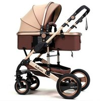 High landscape baby stroller can sit lying fold two- way four...