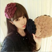 Cute Woolen Hair Clips Hat Flower Headband Fashion Barrettes...