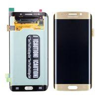 100% test original pour Samsung Galaxy S6 bord G925F LCD digitizer cadre d'assemblage - bleu / blanc / or