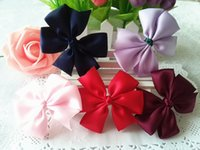 New Arrival Kids Hair Accessories denim Bowknot Hair Clip Ch...
