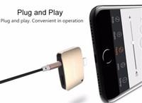 HOT 2 en 1 para 3,5 mm adaptador de enchufe AUX para iPhone 7 iPhone 7 Plus