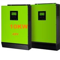 Горячее надувательство солнечного инвертора 10KW солнечного инвертора 48V к инверторам 220V 12KW MPPT Чисто инвертор синуса инвертора синуса гибридный 60A Заряжатель AC