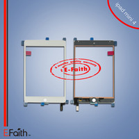 Pour l'iPad 4 lentille de verre de numériseur de l'écran tactile avec le câble de flex Replacement for iPad Mini 4 7.9 '' Inch expédition libre de DHL