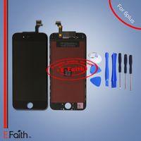 Affichage en gros de A +++ d'affichage à cristaux liquides pour l'iphone noir 6 plus 5.5 remplacement d'écran de pouce avec le numériseur de contact expédition libre